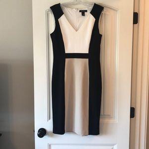 White House Black Market Colorblock Sheath Dress